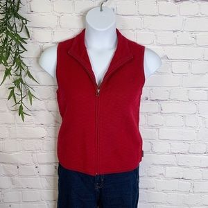 Woolrich 100% wool ruby red vest small